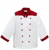 Kid's Chef Coat - Red on White