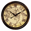 Large Distressed Map Wall Clock