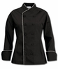 Women's Imperial Black Chef Coat