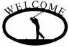 Iron Golfer Welcome Sign
