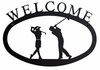 Two Golfers Welcome Sign