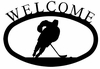 Hockey Player Welcome Sign