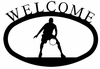 Basketball Player Welcome Sign