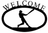 Baseball Player Welcome Sign