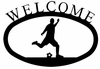 Soccer Player Welcome Sign