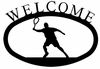 Tennis Player Welcome Sign