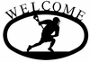 Lacrosse Player Welcome Sign