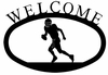 Football Player Welcome Sign
