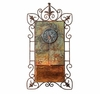 Slate & Iron Leaf Medallion Wall Fountain
