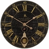 Bond Street Black Pendulum Wall Clock