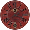Oversized Villa Tesio Red  Wall Clock