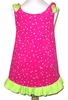 Fashion Girl Hot Pink Party Dots Dress