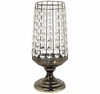 Clear Faux Crystal Pillar Candle Holder