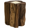 Natural Teakwood Stump Candle