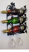 Wall Mount Wine Rack for 2