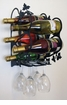 Wall Mount Wine/Glass Rack For 4