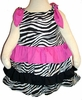 Pink Zebra Ruffles Spring Dress