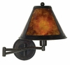Bronze and Mica Swing Arm Wall Lamp