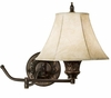 Bronze Swing Arm Wall Lamps - Set of 2