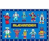 Kid's Personalized Robot Placemats