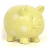 Large Yellow Polka Dot Piggy Bank