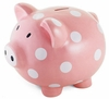 Giant Pink Polka Dot Piggy Bank