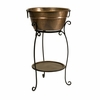 Copper Plated BeverageTub w/Stand