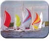 Sail Boats Kitchen Board