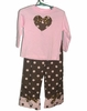Pink and Chocolate Polka Dot Set