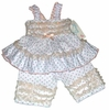 Rosebud Ruffles Cotton Pant Set