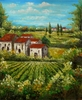 Canvas Oil Art - European Village