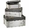 Set of 3 Stacking Rustic Boxes