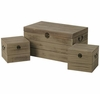 Set of 3 Weathered Wood Trunks