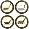 Set of 4 Antique Golf Clubs Stone Coasters