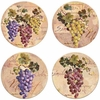 Set of 4 Grapes Stone Coasters