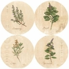 Set of 4 Herbs Stone Coasters