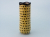 Tall Slender Vase - Yellow & Blue