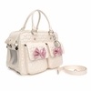 Quilted Bow Pet Carrier - Ivory