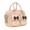 Quilted Bow Pet Carrier - Pink