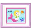 Girl's Pink Mermaid Framed Print