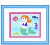 Girls Aqua Mermaid Framed Print