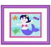 Girl's Purple Mermaid Framed Print