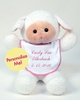 Plush Lamb Buddy w/ Pink Trim Bib - 18""