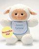 Plush Lamb Buddy w/ Blue Trim Bib - 18""