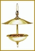 Large Round Brass Bird  Feeder -  Natural