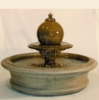 Fairfield Stone Fountain w/Tier & Sphere