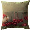 Oiseau -Baies (Berry Bird) Cushion Cover