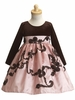 Pink/Brown Velvet & Taffeta Dress