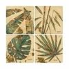 Set of 4 Palm Leaves Stone Coasters