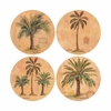 Set of 4 Exotic Palms Stone Coasters